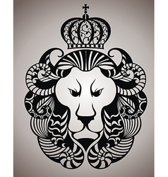 Lion face logo emblem vector
