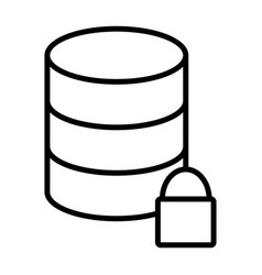 lock database line icon simple minimal pictogram vector image