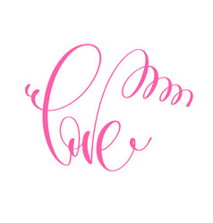 love - hand lettering inscription text vector image