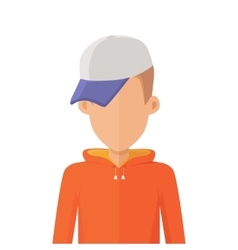 Man Character Avatar in Flat Design vector image