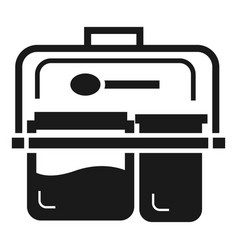 meal lunch box icon simple style vector image