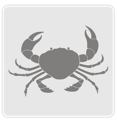 monochrome icon with crab vector image