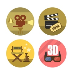 movie icons vector image vector image