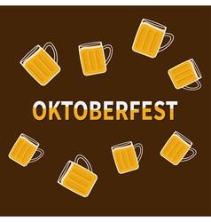 Oktoberfest Beer glass mug with foam cap froth vector image