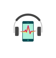 Online mobile music player icon headphones vector