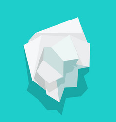 Paper crumpled ball icon or trash wrinkle vector