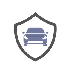 protect car guard shield safety badge vehicle vector image