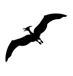 Pterosauria silhouette dinosaur jurassic vector