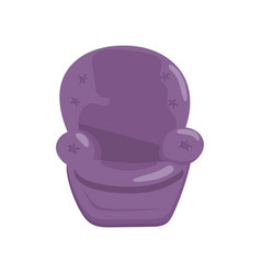 Purple cozy armchair cartoon vector