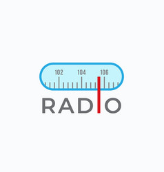 radio scale sign symbol or logo template vector image