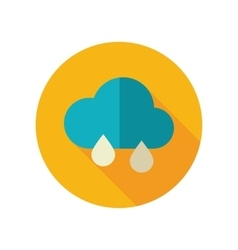 Rain Cloud flat icon Meteorology Weather vector image