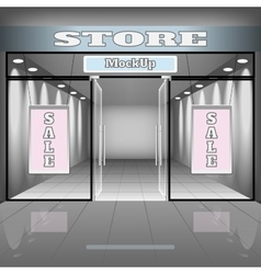 realistic store or office interior template vector image