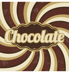 Retro Chocolate Sign Vintage Background vector