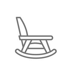 Rocking chair nursing home furniture line icon vector