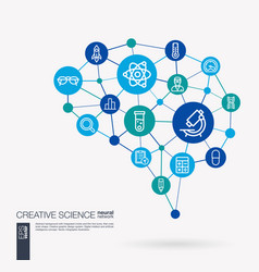 science laboratory test research innovation vector image