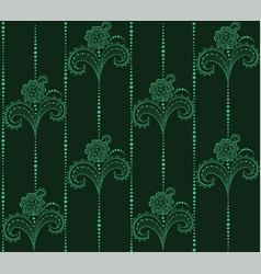 seamless lace repeats garland with circles vector image