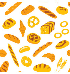 seamless pattern with bakery and confectionery vector image