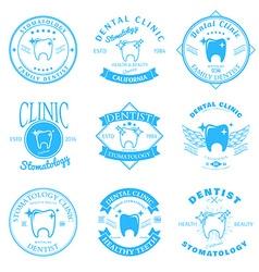 Set dental clinic logo templates dental labels vector