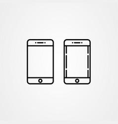 set handphone icon template vector image