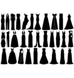 Set of dresses vector