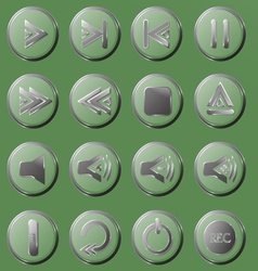 Set of the transparent buttons vector image