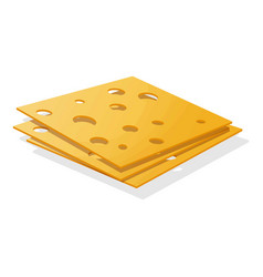 sliced cheese icon cartoon style vector image
