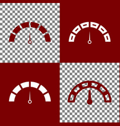 speedometer sign bordo and vector image