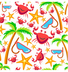 summer plants and animals tropical seamless vector image