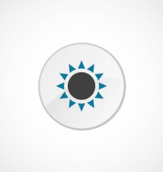 sun icon 2 colored vector image
