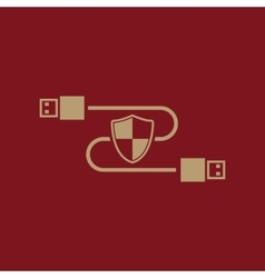The secure connection icon Transfer and vector