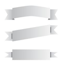three gray ribbon banner sign three gray ribbon vector image