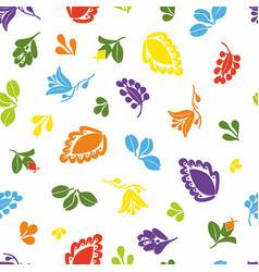 tile pattern with seamless colorful floral print vector image