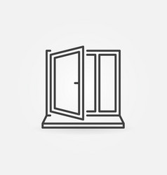 Window with sill line concept icon vector