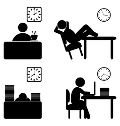 Work process icons vector