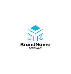 Y scale of justice logo design vector