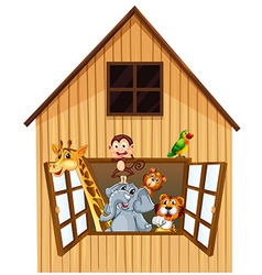 Animals and barn vector image vector image