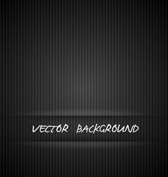 Black strips background vector image vector image