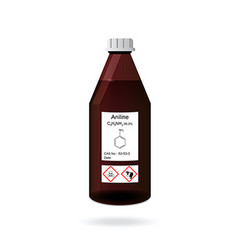 Chemical bottle with aniline solvent vector image vector image