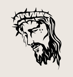 christ sketch drawing vector image vector image