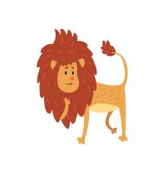 cute funny lion cub cartoon character vector image