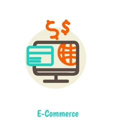 Flat design concepts of online payment methods vector image