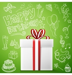 Happy birthday gift box vector image