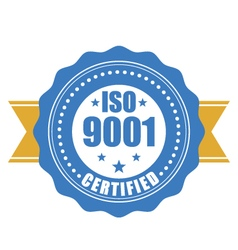 ISO 9001 certified - quality standard seal vector image