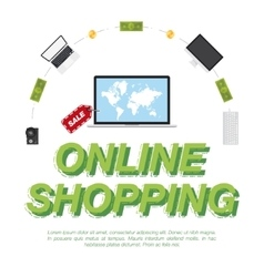Online Shop Concept on the sale of digital vector image