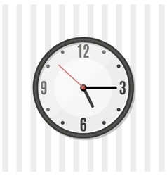 Simple wall clock vector image vector image