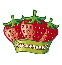 Strawberry label design vector image vector image