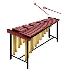 A Musical Marimba Isolated on White Background vector image vector image