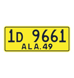 Alabama 1949 license plate vector image vector image