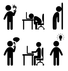 business situation icons vector image