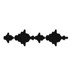 equalizer sound radio icon simple black style vector image